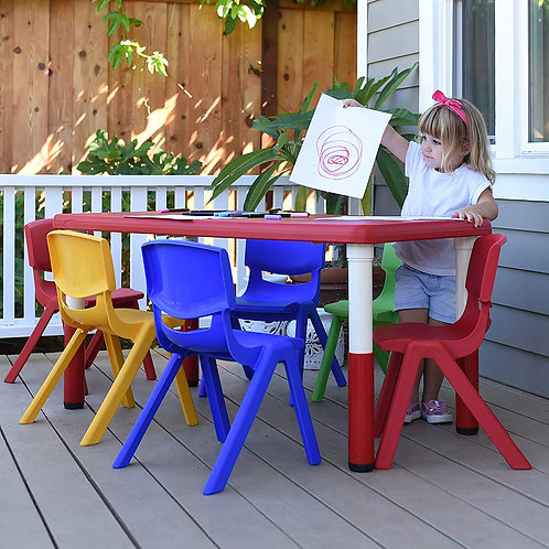 Colorful Stacking Chairs for Kids