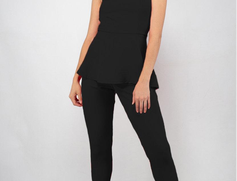 Jumpsuit strapless con peplum