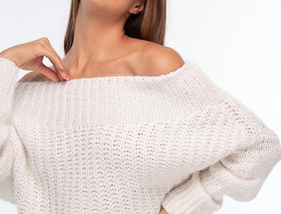 Suéter hombros descubiertos