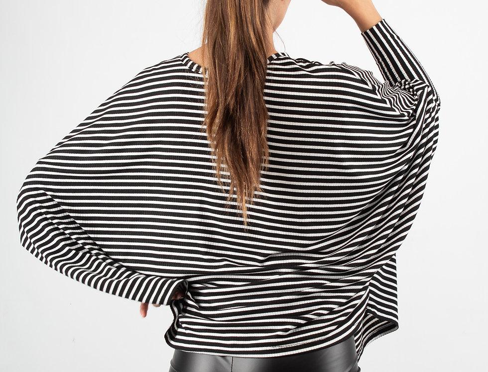 Blusa overzise rayada