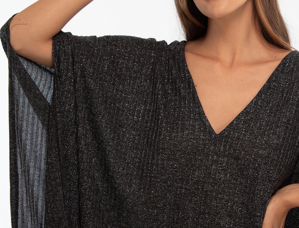 Blusón gris amplio