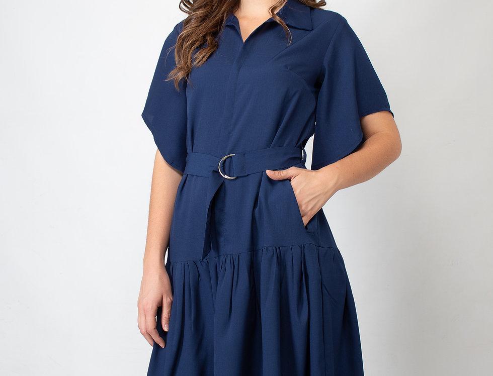Maxi vestido azul