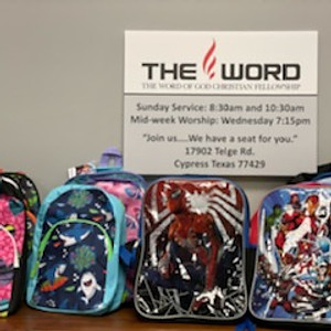 Backpack drive with Word of God Christian Fellowship