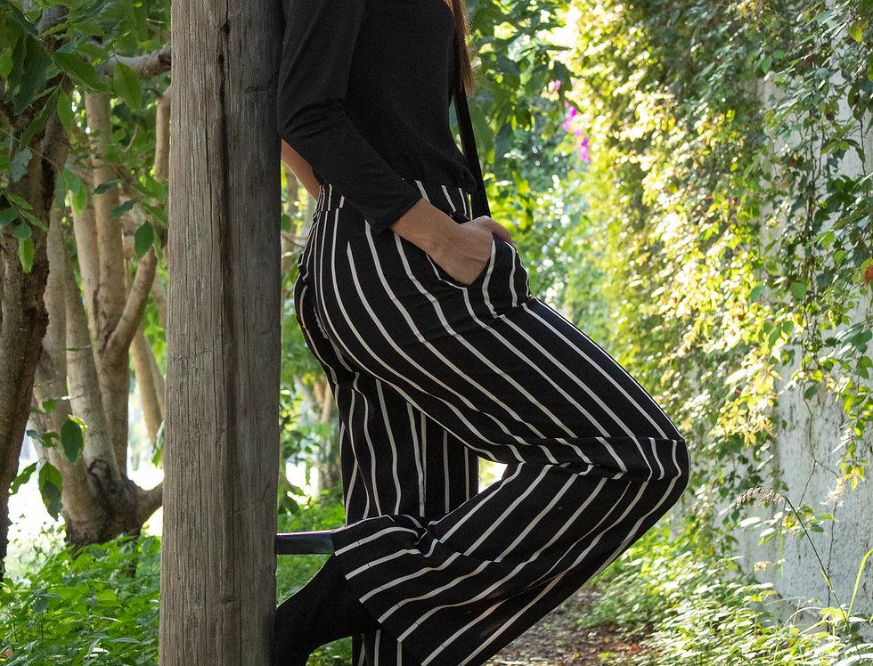 Pantalón recto rayas