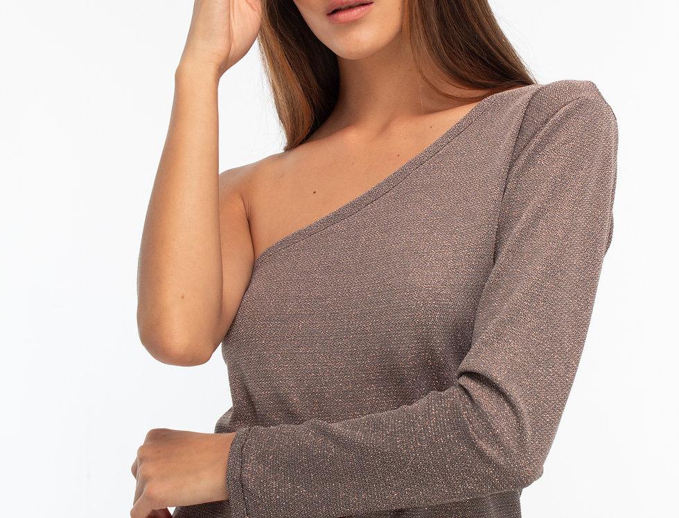 Blusa un hombro nude