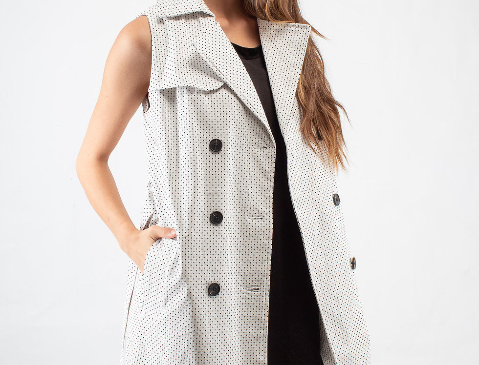Chaleco trench ivory