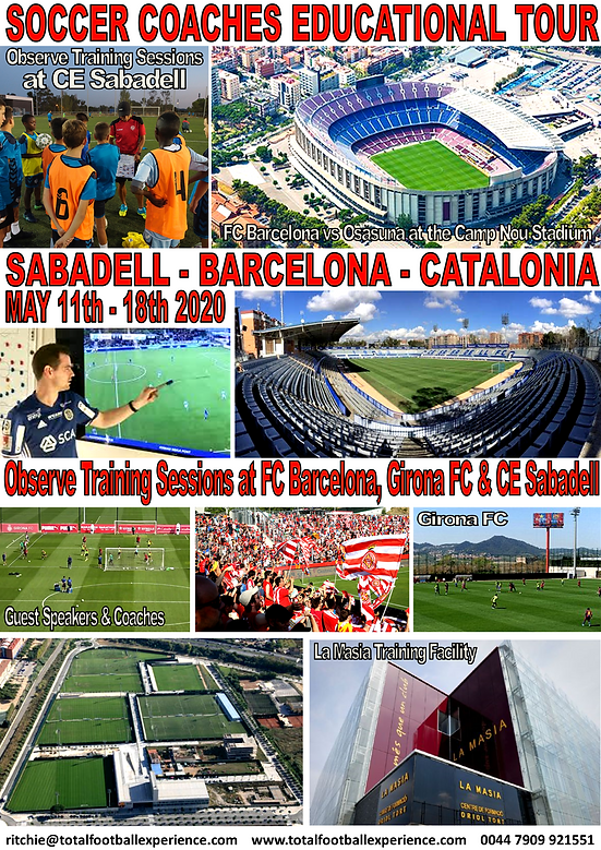 SOCCER COACHES EDUCATIONAL TOUR TO BARCE