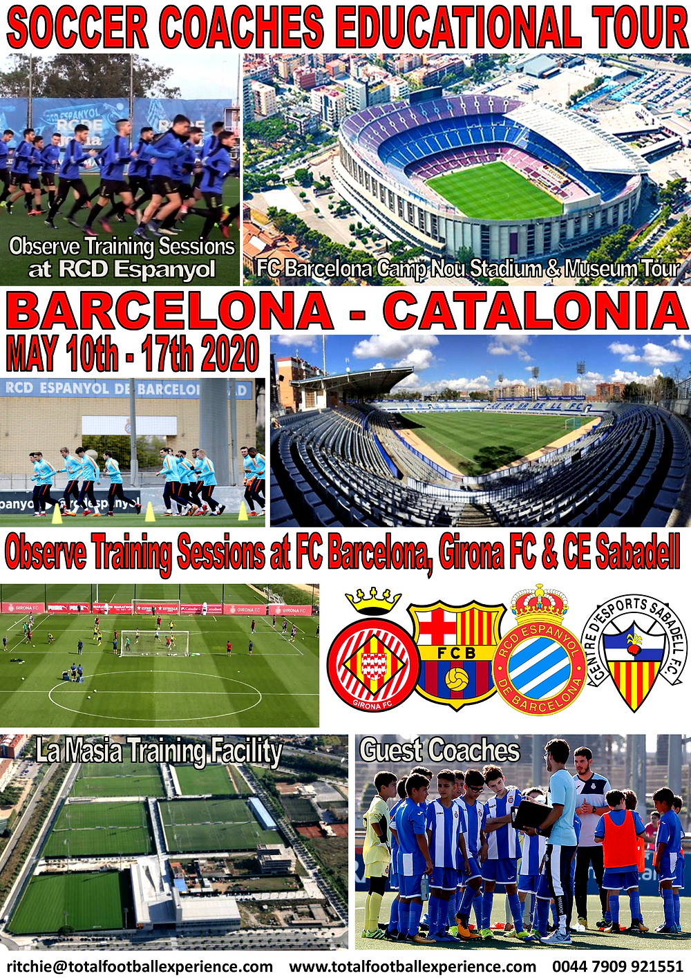 SOCCER COACHES EDUCATIONAL TOUR  to BARCELONA