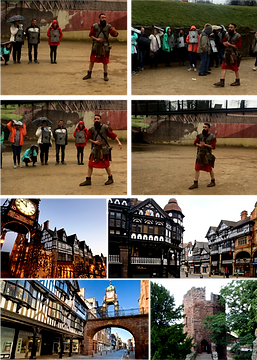 Chester is in the beautiful county of Cheshire, it was originally founded as a Roman fortress in the 1st century A.D.