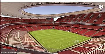Atletico de Madrid's famous Wanda Metropolitano Stadium