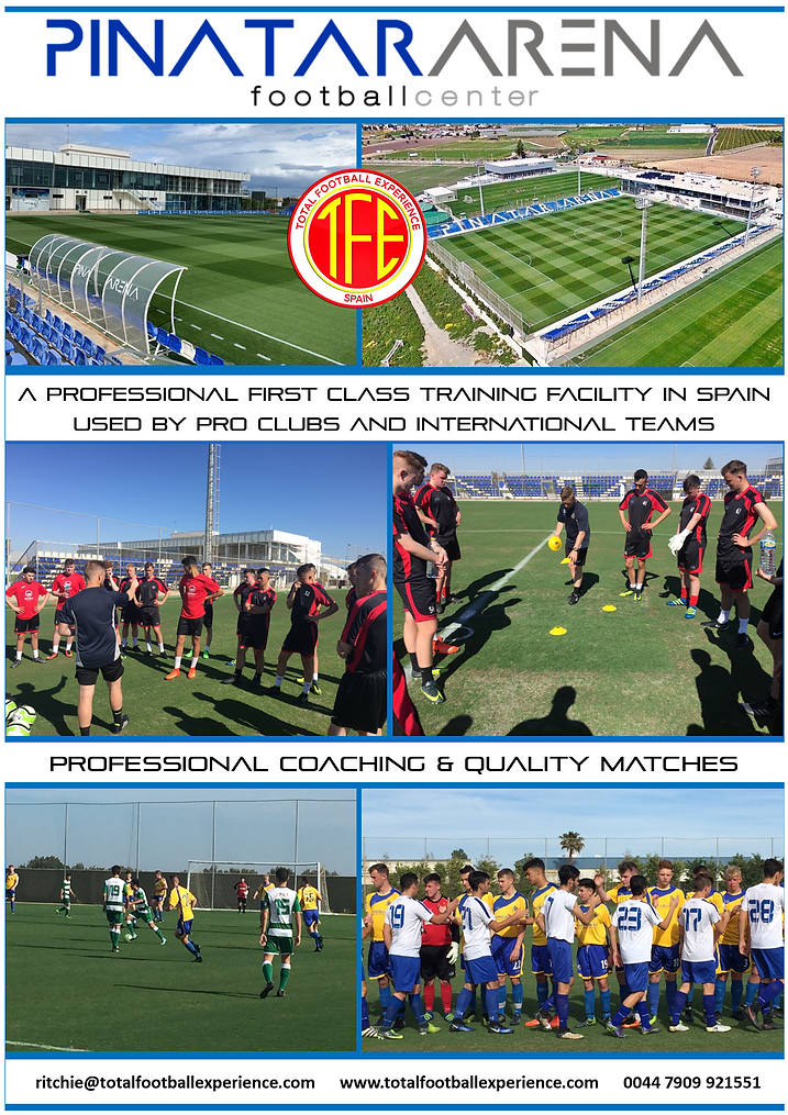 SOCCER TOUR TO SPAIN PINATAR ARENA