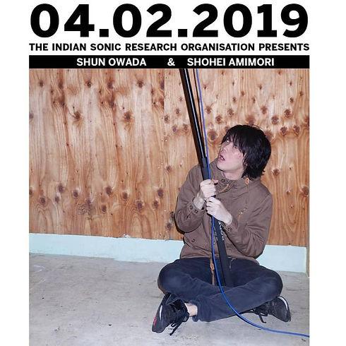Gig Poster for 'Japanese Experimental Music' with Shun Owada and Noa Mori