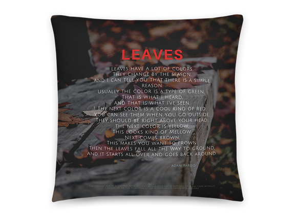 """Leaves"" Pillow"