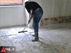 Instalación de mármol