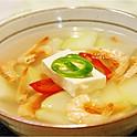 4 Crevettensuppe (shrimps soup)