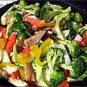 74 Gemüse gebraten (fried vegetables)