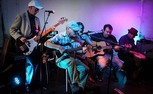 band performing a gig