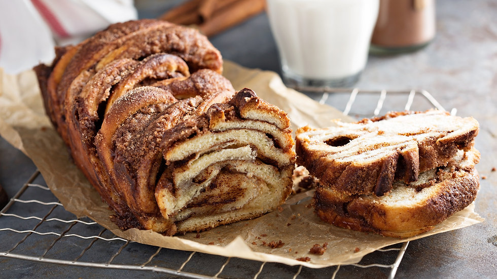 Apple Cinnamon Babka with Toasted Almonds
