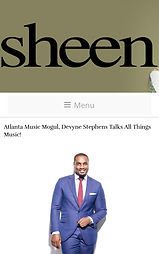 DEVYNE STEPHENS SHEEN MAGAZINE