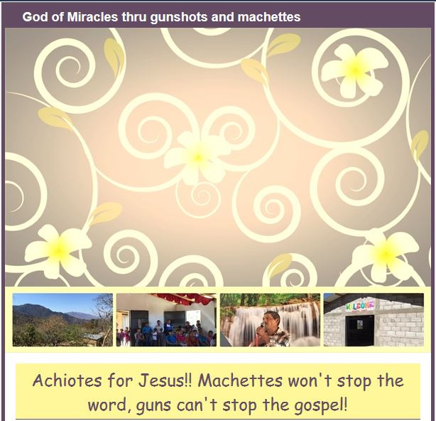 God of Miracles thru gunshots and machettes