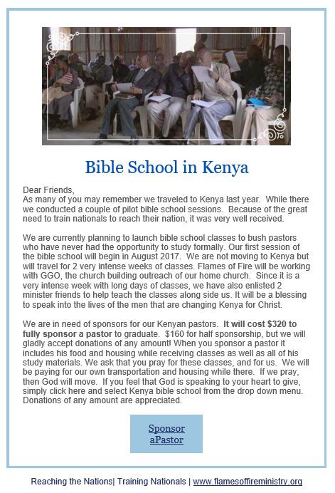 Kenya Bible School!