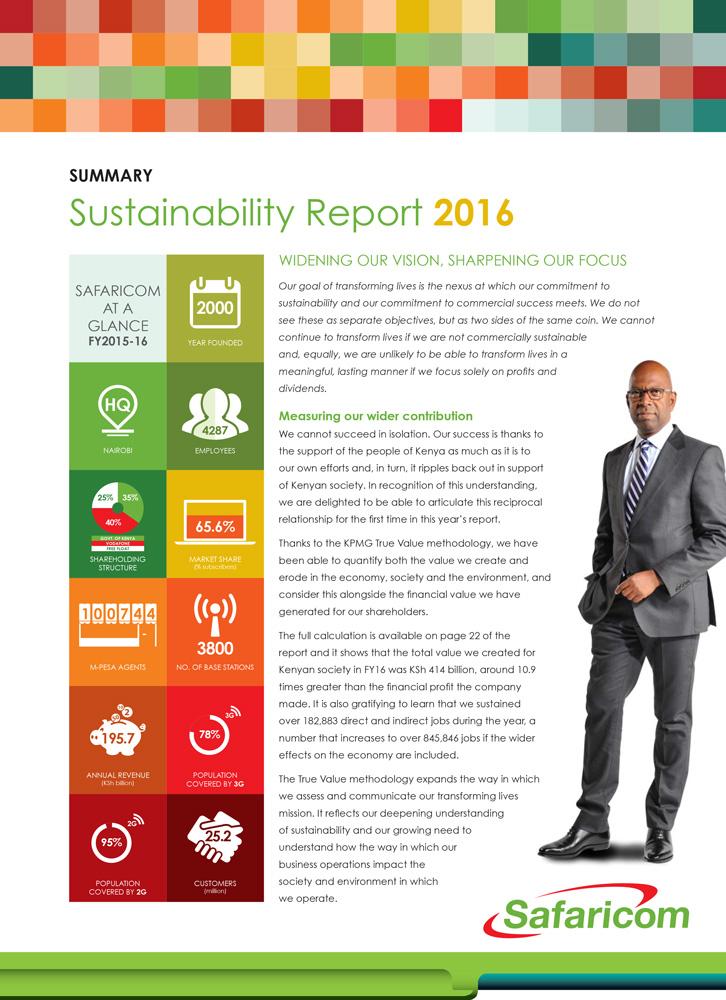 Safaricom Sustainability Report