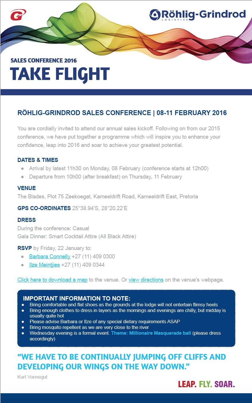 Röhlig Conference Invite
