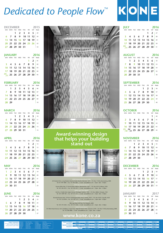 KONE Calendar