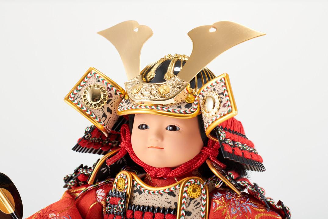 五月人形 おぼこ大将 赤糸