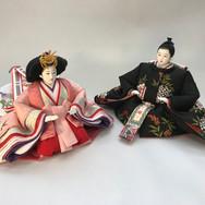 三重菱 雪輪刺繍 手描き南天