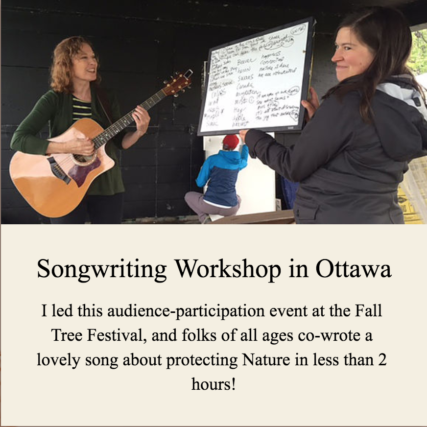 Songwriting Workshop in Ottawa