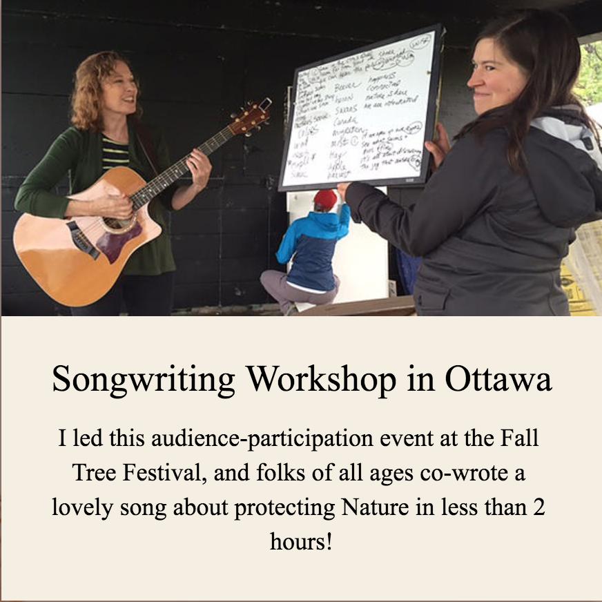 Songwriting Workshop in Ottawa
