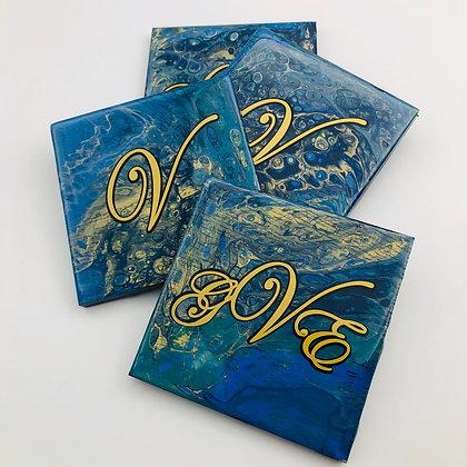Set of 4 Coasters Custom Personalized Coaster