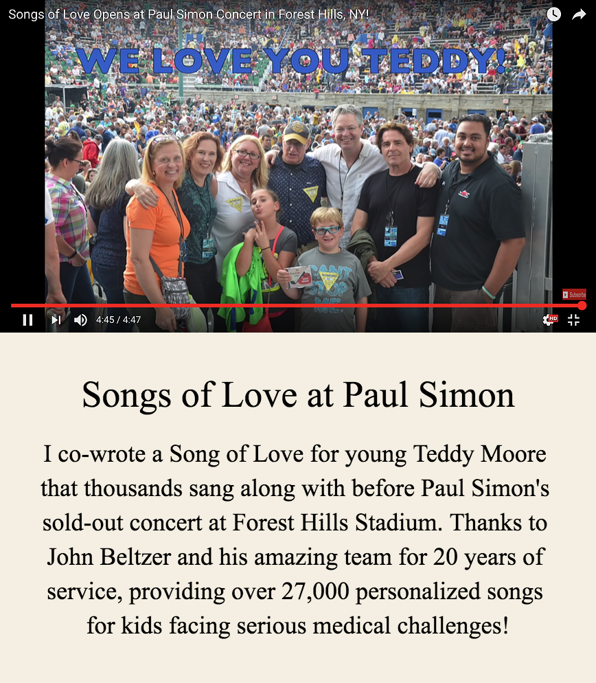 Songs of Love at Paul Simon Concert