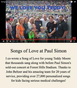 Songs of Love at Paul Simon Concert
