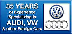 Auto Sprint has 35 Years of Experience Specializing in AUDI, VW & other Foreign Cars