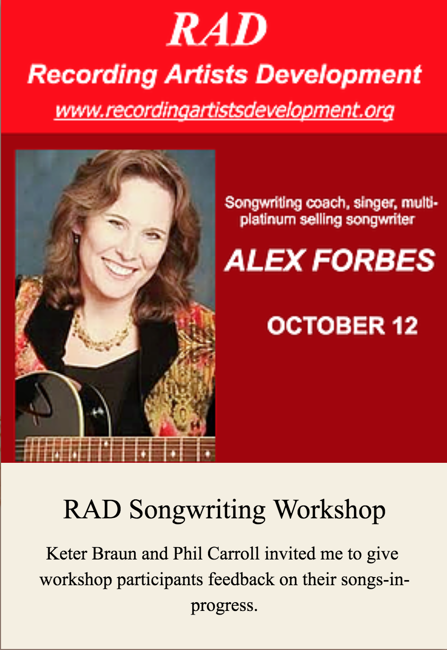 RAD Songwriting Workshop