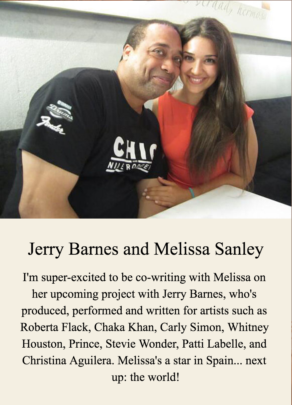 Jerry Barnes and Melissa Sanley