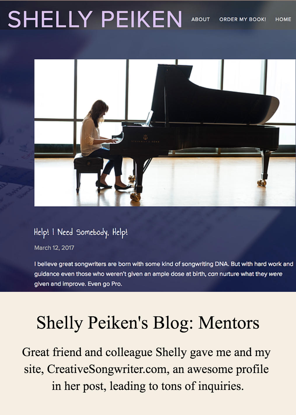 Shelly Peiken's Blog - Mentors