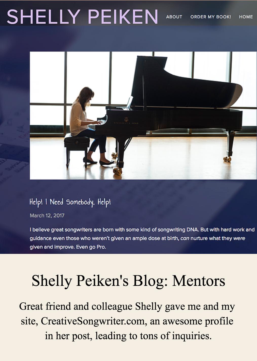 Shelly Peiken's Blog - Mentors