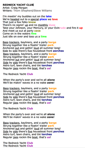 An AMAZING Country Song Rhyme Scheme!