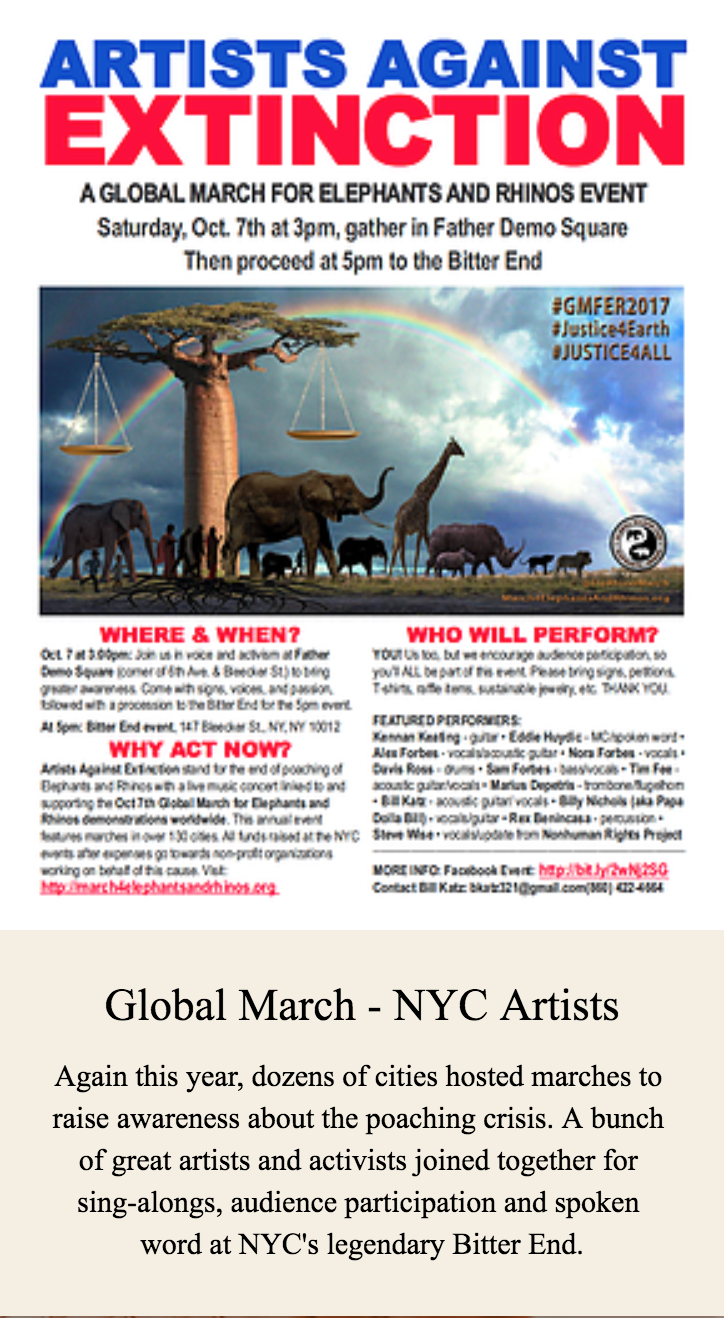Global March - NYC Artists Against Exctinction