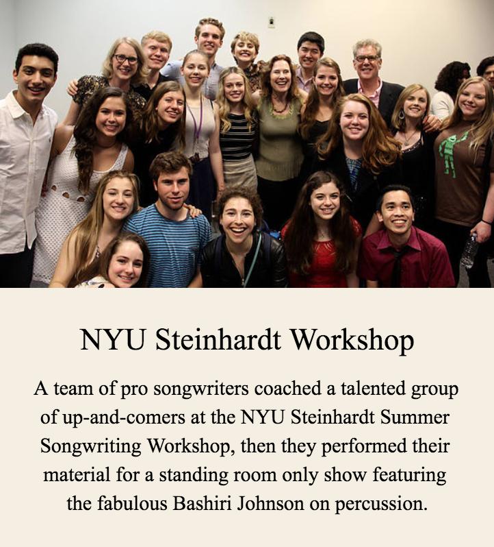 NYU Steinhardt Songwriting Workshop