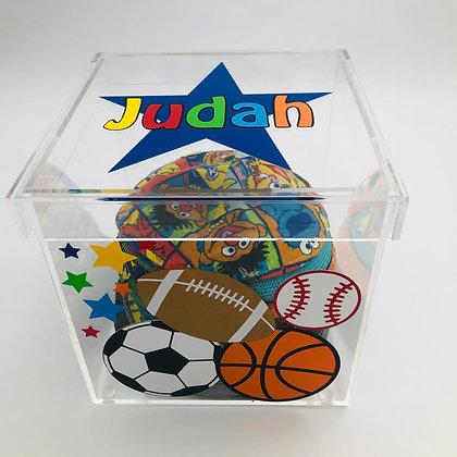 Acrylic Kippah Storage Box