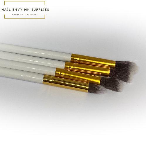 Art Brush Set - White & Gold