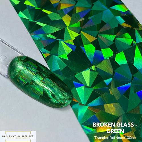 Broken Glass Foil - Green