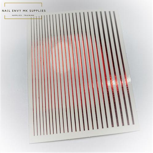 Red Design Tape Sheet
