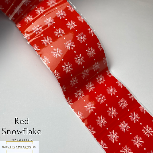 Red Snowflake Foil