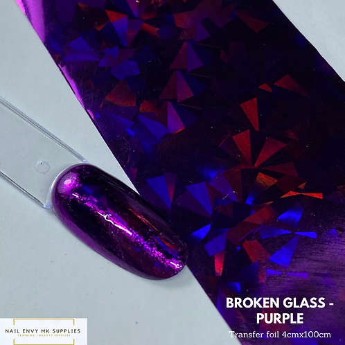 Broken Glass Foil - Purple