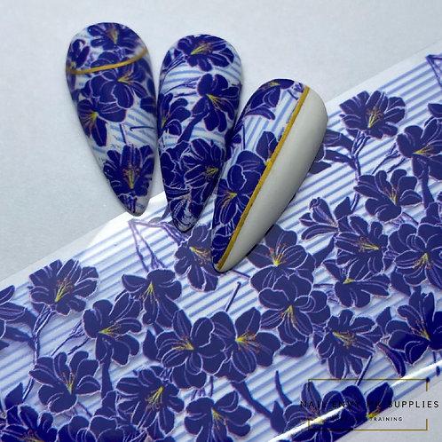 Blue Bloom Foil